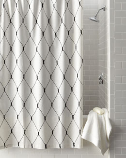 "Legacy Home ""Linea Graphic"" Diamond Shower Curtain"