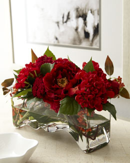 "John-Richard Collection ""Red Delight"" Faux Floral"