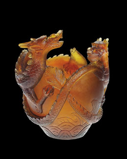 "Daum ""Dragon"" Vase"