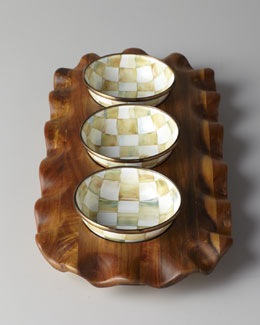 "MacKenzie-Childs ""Parchment Check"" Relish Set"