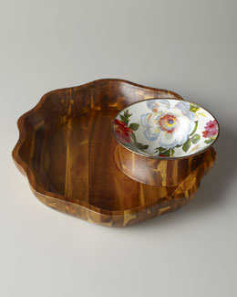 "MacKenzie-Childs ""Flower Market"" Chip & Dip Set"