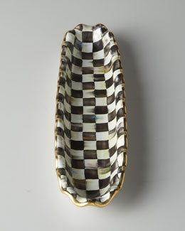 "MacKenzie-Childs ""Courtly Check"" Hors D'Oeuvre Tray"