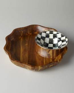 "MacKenzie-Childs ""Courtly Check"" Chip & Dip Set"