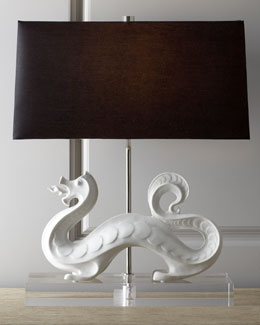 "Jonathan Adler ""White Dragon"" Lamp"