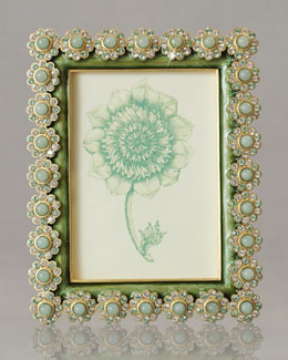 "Jay Strongwater Fern ""Flower Gemstone"" Photo Frame"
