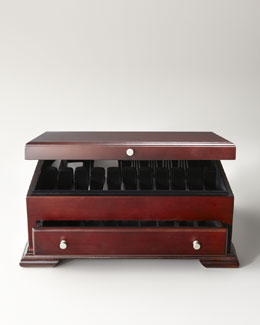 Wallace Silversmiths Dark Walnut Flatware Chest