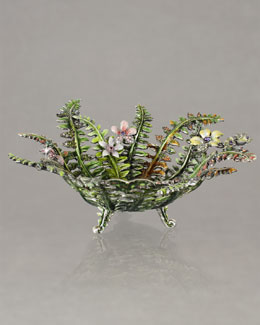"Jay Strongwater ""Fern"" Bowl"