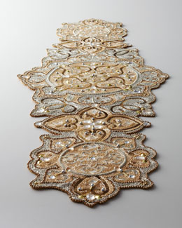 "Kim Seybert ""Baroque"" Beaded Table Runner"