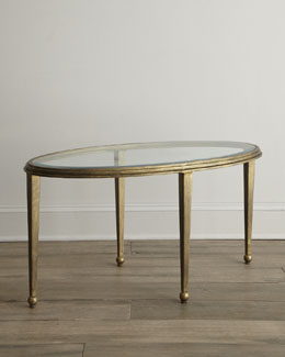 """""""Montague"""" Oval Glass Coffee Table"""