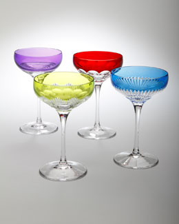 "Waterford Four Assorted ""Mixology"" Coupe Glasses"
