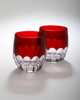 "Waterford Two ""Mixology"" Talon Red Tumblers"