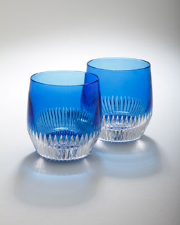"Waterford Two ""Mixology"" Argon Blue Tumblers"