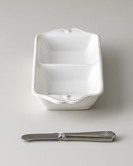 "Juliska ""Berry & Thread"" Two-Section Server with Spreader"