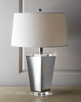 Regina-Andrew Design Chrome & Crystal Scallop Lamp