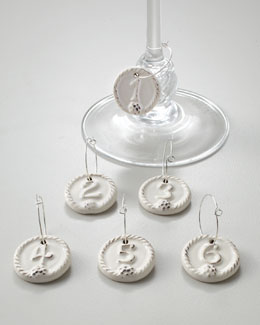 "Juliska Six ""Berry & Thread"" Wine Charms"