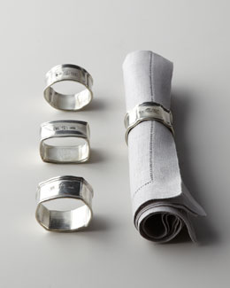 Vagabond House Four Assorted Pewter Napkin Rings