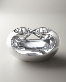 "Nambe ""Infinity"" Double Dip Server"