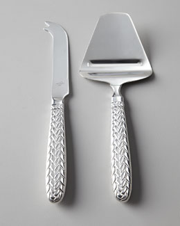 "Lauren Ralph Lauren Two-Piece ""Equestrian Braid"" Cheese Knife Set"