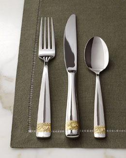 "Yamazaki Tableware Five-Piece ""Crestwood"" Flatware Place Setting"