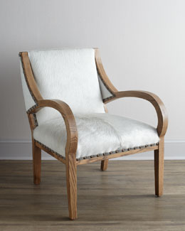 "Lee Industries ""Camargo"" Hairhide Chair"