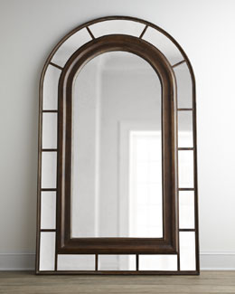 """Clark"" Arched Floor Mirror"