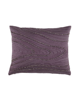 "Donna Karan Collection ""Watermark"" Beaded 16"" x 20"" Pillow, Haze"