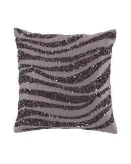 "Donna Karan Home ""Crystal Wave"" 9""Sq. Pillow, Haze"