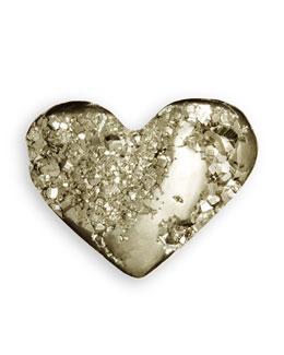 AERIN Pyrite Heart