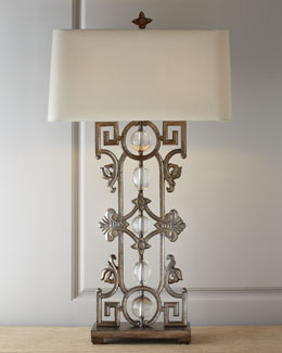 "John-Richard Collection ""Greek Key to My Heart"" Table Lamp"