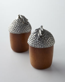 "Vagabond House ""Acorn"" Salt & Pepper Shakers"