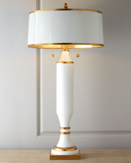 White-and-Gold Table Lamp