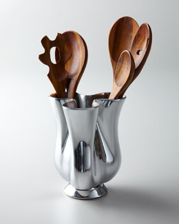 Nambe Kitchen Utensils & Tulip Canister