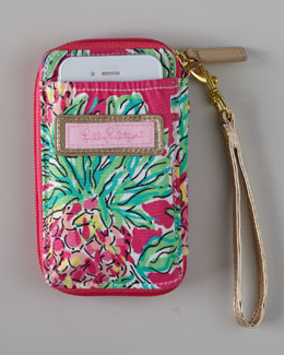 "Lilly Pulitzer Pink ""Spike the Punch"" iPhone Wristlet"