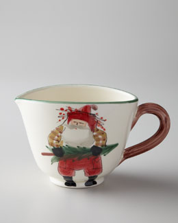 "Vietri ""Old St. Nick"" Small Pitcher"