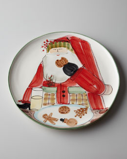 "Vietri ""Old St. Nick"" Cookie Platter"