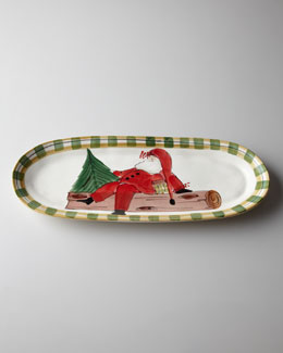 "Vietri ""Old St. Nick"" Oval Platter"