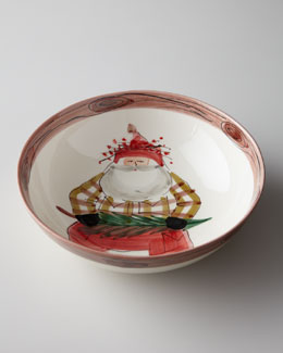 "Vietri ""Old St. Nick"" Serving Bowl"