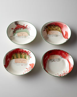 "Four Assorted ""Old St. Nick"" Oval Bowls"