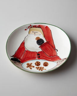 "Vietri ""Old St. Nick"" Cookie Plate"