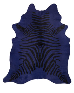 "NM EXCLUSIVE ""Blue Zebra"" Hairhide Rug, 6' x 7'"