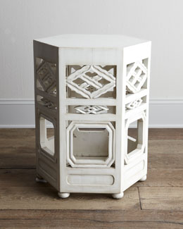 "John-Richard Collection ""Tobin"" White Side Table"