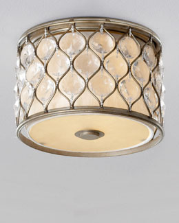 """Lucia"" Two-Light Flush Mount"