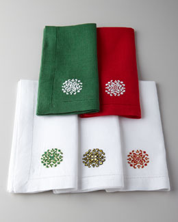 "SFERRA Four ""Holiday Medallion"" Dinner Napkins"