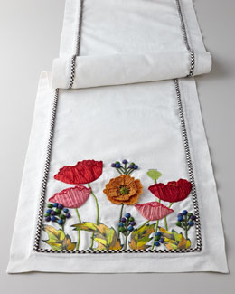 "MacKenzie-Childs ""Red Poppy"" Runner"