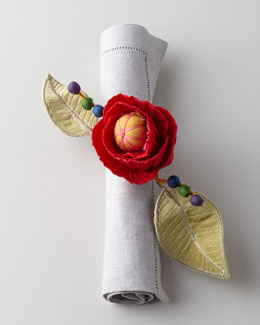 MacKenzie-Childs Red Poppy Napkin Ring