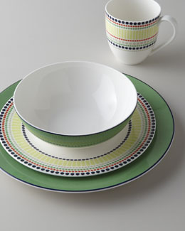 "kate spade new york Four-Piece ""Hopscotch Drive"" Dinnerware Place Setting"