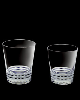 "Lalique Two ""Facet"" Tumblers"