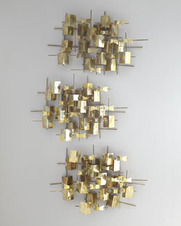 Global Views Folded Brass Wall Decor