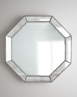 Beaded Octagon Wall Mirror