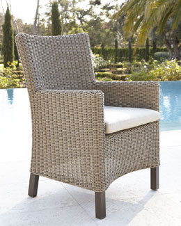 """Alyssa"" Wicker Armchair with Cushion"